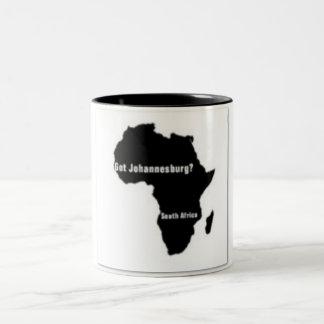 No1 Johannesburg,South Africa  T-shirt And Etc Two-Tone Coffee Mug
