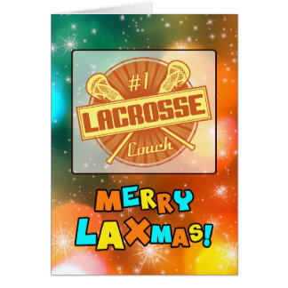 No1 Lacrosse Coach Holiday Christmas Card