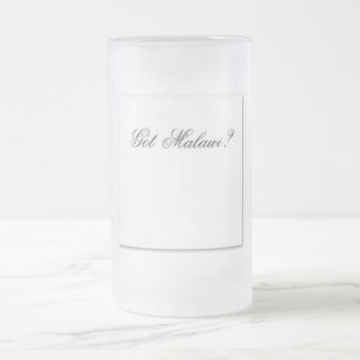 """No1""""Malawi""""  T-Shirt and etc Frosted Glass Beer Mug"""