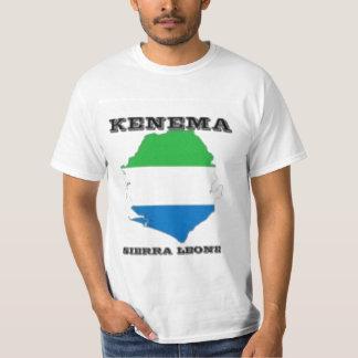No1 Sierra Leone, camiseta del mapa (Kenema) Remeras