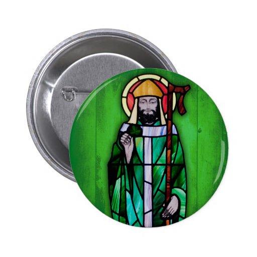 No3 del botón del día de San Patricio Pin