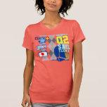 No. 02 Argyle náutico femenino del equipo de la ve Camisetas