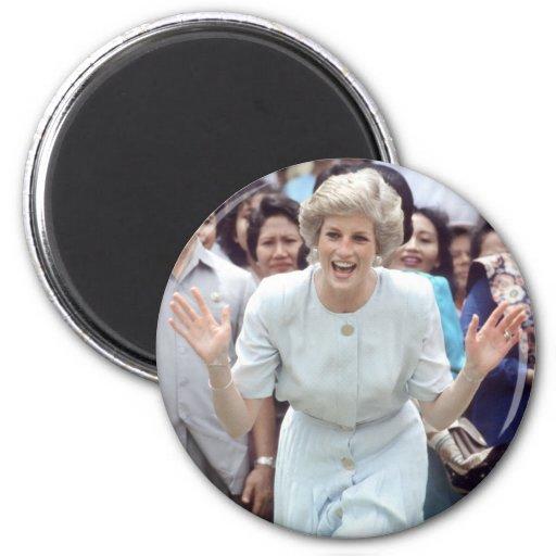 No.100 princesa Diana Indonesia 1989 Imán De Frigorifico