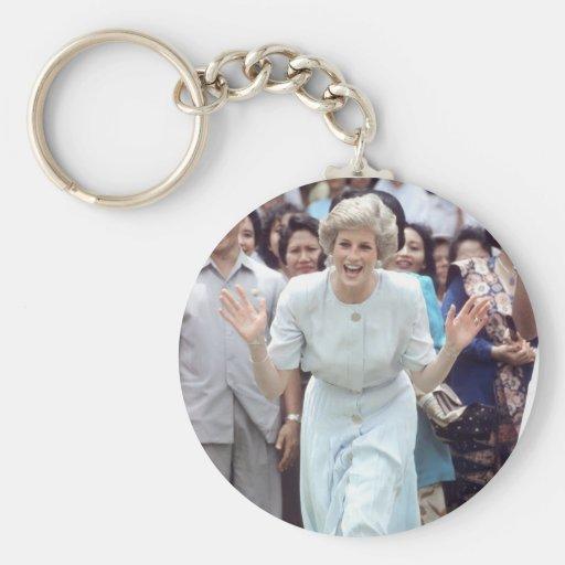 No.100 princesa Diana Indonesia 1989 Llavero Redondo Tipo Pin