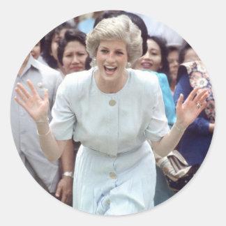 No.100 Princess Diana Indonesia 1989 Classic Round Sticker