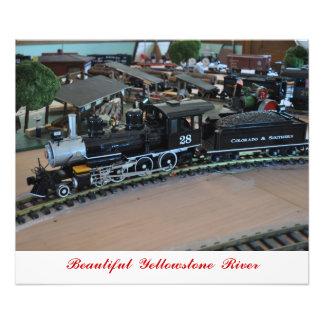 No # 1017 - Small Train, Yellowstone River. Photo Art