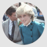 No.102 princesa Diana St Columb 1983 Etiquetas Redondas