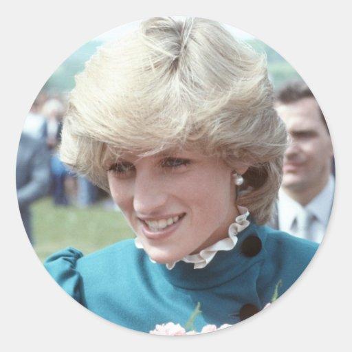 No.103 princesa Diana St Columb 1983 Pegatina Redonda
