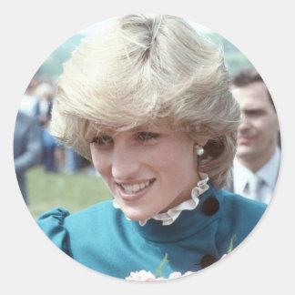 No.103 Princess Diana St Columb 1983 Classic Round Sticker