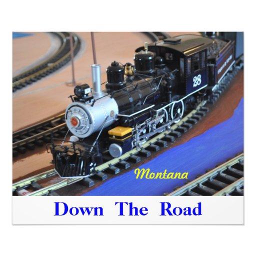 No # 1056 - Fast Trains, Down The  Road. Art Photo