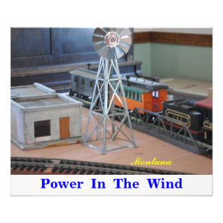 No # 1059 - Fast Trains, Power in the Wind. Photo Art