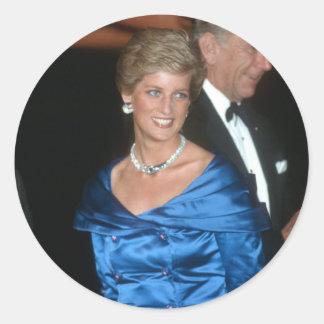 No.105 princesa Diana Australia 1988 Etiquetas Redondas