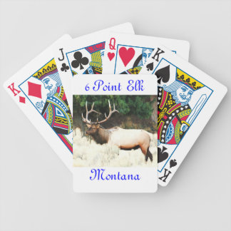 No # 10, Bicycle Cards, 6 Point ELK Montana Bicycle Playing Cards