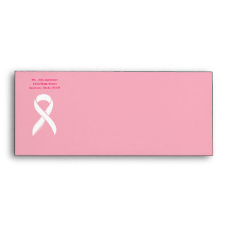 No 10 Breast Cancer with Ribbon Envelope