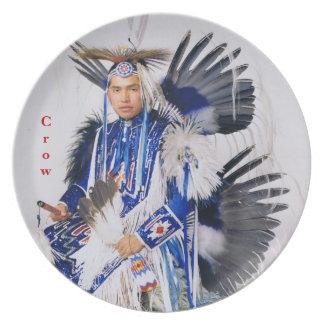 No # 10 Dinner Plate, Crow Style Dancer, Montana Plates