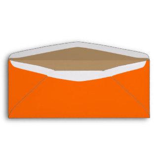 No. 10 naranja/oro del sobre
