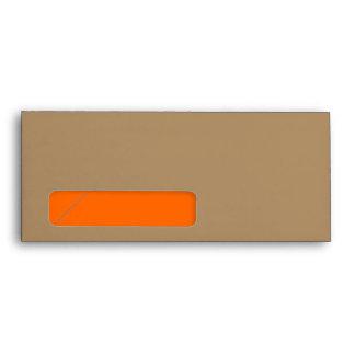 No. 10 oro/naranja del sobre con la ventana