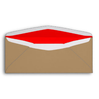 No. 10 oro/rojo del sobre