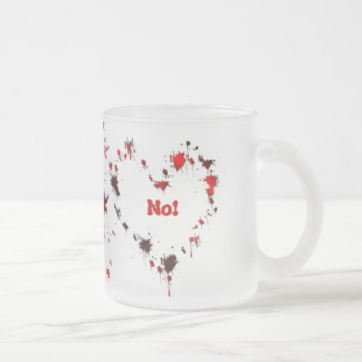 No! 10 Oz Frosted Glass Coffee Mug