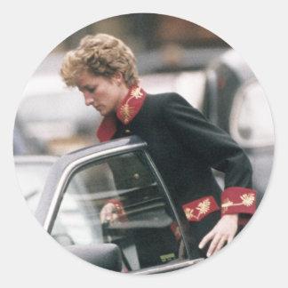 No.110 princesa Diana Londres 1994 Etiquetas Redondas