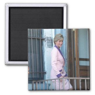 No.111 Princess Diana Washington D.C. 1990 2 Inch Square Magnet