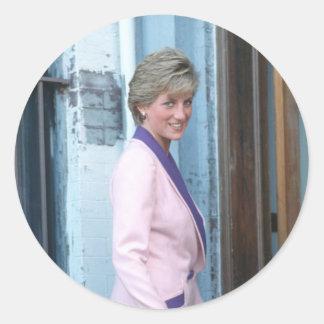No.111 Princess Diana Washington D.C. 1990 Classic Round Sticker