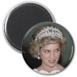 No.114 princesa Diana los E.E.U.U. 1985 Imán Redondo 5 Cm