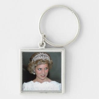 No.114 princesa Diana los E.E.U.U. 1985 Llavero Cuadrado Plateado