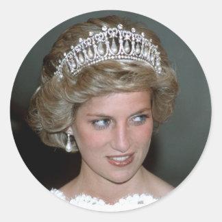 No.114 princesa Diana los E.E.U.U. 1985 Pegatinas Redondas