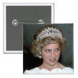 No.114 princesa Diana los E.E.U.U. 1985 Pin Cuadrada 5 Cm