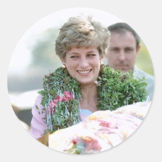 No.116 Princess Diana Calcutta India 1992 Classic Round Sticker