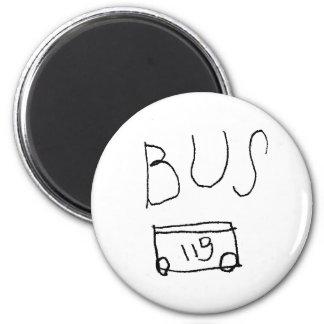 No. 119 del autobús imán redondo 5 cm