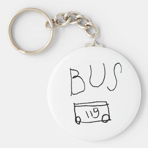 No. 119 del autobús llavero redondo tipo pin