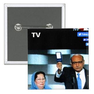 No. 11 del botón de la TV Pin Cuadrado