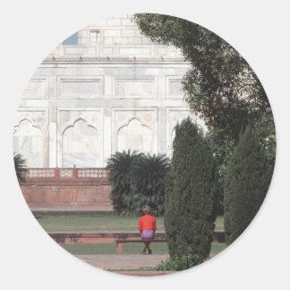 No.121 princesa Diana el Taj Mahal 1992 Pegatina Redonda