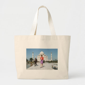 No.122 Princess Diana Taj Mahal, India 1992 Large Tote Bag