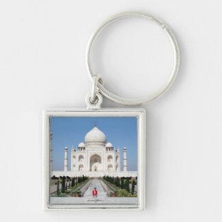 No.123 princesa Diana el Taj Mahal 1992 Llavero Cuadrado Plateado