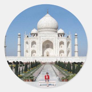No.123 princesa Diana el Taj Mahal 1992 Pegatinas Redondas