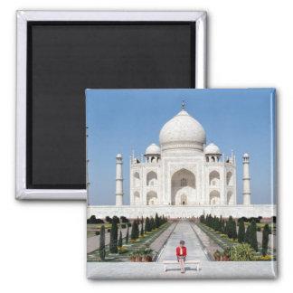 No.123 Princess Diana Taj Mahal 1992 2 Inch Square Magnet
