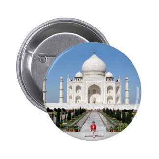 No.123 Princess Diana Taj Mahal 1992 Button