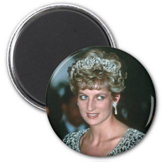 No.125 princesa Diana la India 1992 Imán Redondo 5 Cm