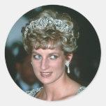 No.125 Princess Diana India 1992 Round Sticker
