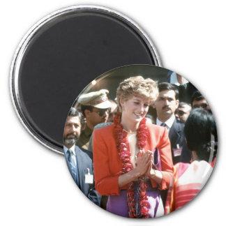 No.126 la princesa Diana visita Delhi, la India 19 Imanes