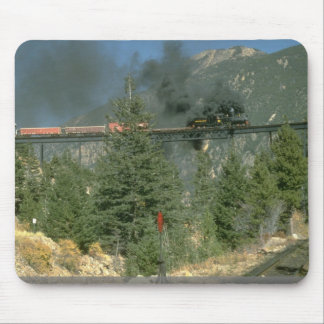 No. 14 de la locomotora de Shay cruza el caballete Tapetes De Ratón