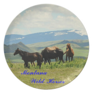 No # 14, Dinner Plate, Montana's Wild Horses Party Plate