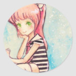 no.188 pink-haired sailor for renee sticker