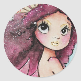 no.189 mermaid for su classic round sticker