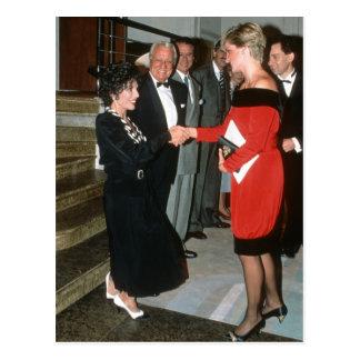No.191 princesa Diana - Joan Collins 1990 Tarjetas Postales
