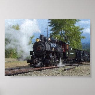No. 19 impresión de la lona del tren del lastre