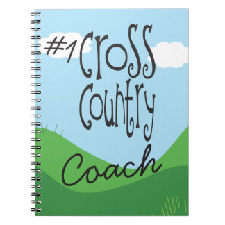 No 1 Cross Country Coach Spiral Notebook